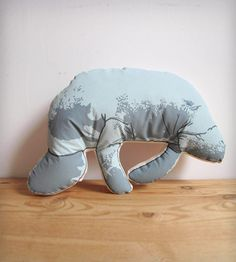 Sleeping just got so much cooler. Manatee Pillow by Broderpress