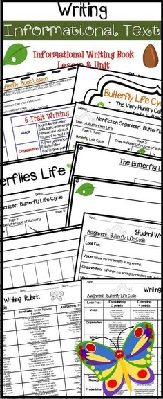 Writing Informational Text  Units  Lessons  Lesson Plan