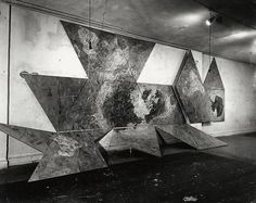 Jasper Johns. Map (Based on Buckminster Fuller's Dymaxion Airocean World). 1967.