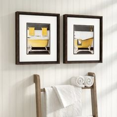Citron Bath Framed Graphic Art Set (Set of Luxury Hotel Bathroom, Painting Frames, Vintage Decor, Frames On Wall, Brown And Grey, Picture Frames, Decorative Pillows, Graphic Art, Framed Prints