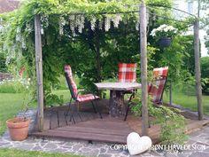 En pergola bygges ofte af træ eller metal og kan med den rigtige placering, skabe en flot stemning i din have. Her er et par forslag til egnede planter