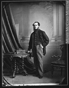 """William Notman was born in Scotland in 1826. In 1856 he sailed to Montreal, then the thriving hub of British North America. William Notman, """"William Notman, Photographer,"""" Montreal, 1863, McCord Museum."""