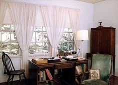 "Eudora Welty kept her writing desk next to broad windows looking over leafy oak branches across a green lawn. She usually kept the windows open and loved looking out, but she didn't want her desk facing the window. ""I like sitting sideways so the world is always with me."""