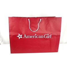 5b8483a82e1 AG American Girl Doll RED GIFT Shopping BAG White Rope Handles 22x16x8  HOILDAY  AmericanGirl