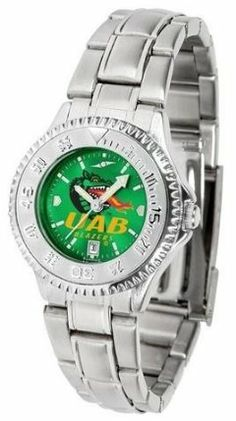 UAB Blazers Women's Stainless Steel Dress Watch by SunTime. $88.95. Links Make Watch Adjustable. Women. Stainless Steel. Officially Licensed Alabama Birmingham Blazers Women's Stainless Steel Dress Watch. Water Resistan. UAB Blazers Women's stainless steel watch. This Blazers dress watch with rotating bezel color-coordinated to compliment your favorite team logo. The Competitor Steel utilizes an attractive stainless steel band. Perfect for any occasion, whether casual or formal...