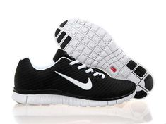 brand new 96524 7f412 Nike Free Run Mens Shoes Black White Special