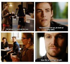 Oliver Queen and Barry Allen #TheFlashvsArrow #1.8