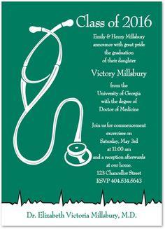 21 medical school graduation invitation wording ideas grad green white medical graduation party invitations filmwisefo