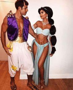 Disney Couple Costumes, Unique Couple Halloween Costumes, Trendy Halloween, Disney Halloween Costumes, Halloween Outfits, Adult Halloween, Halloween Couples, Sexy Couples Costumes, Couple Costume Ideas