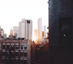 Imagem de city, sun, and building