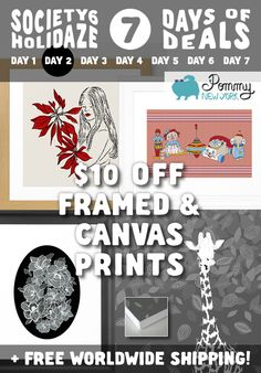 $10 OFF FRAMED AND CANVAS PRINTS from Pommy New York + FREE SHIPPING WORLDWIDE. Last 4 hours to enjoy this discount. Click the link: http://society6.com/pommy/framed-prints?promo=4B3PHCJXPPRJ