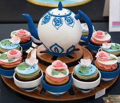 Bespoke cakes, cupcakes and more for all occasions. Chinese Tea Set, Cake International, Cake Makers, Celebration Cakes, Lotus, Oven, Cupcakes, Bronze, Magic