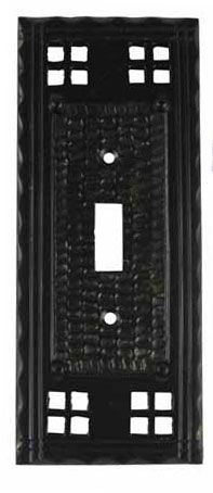 6 3/4 Inch Solid Brass Craftsman Style Switch Plate (Oil Rubbed Bronze Finish) $14