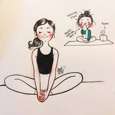 These yoga poses can help you to lose your wight. Regularly posing these yoga positions will surly help you out and will make you perfect. Asana, Yoga Cartoon, Yoga Thoughts, Yoga Drawing, Yoga Illustration, Different Types Of Yoga, Mudras, Yoga Motivation, Restorative Yoga