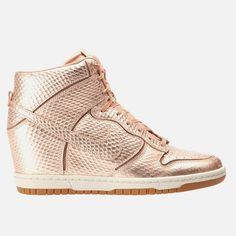 Nike - Dunk Sky HI Cut Out Basketball Teams, College Basketball, Nike Dunks, Wedge Heels, Take That, Product Launch, Bronze, Metal, Sneakers