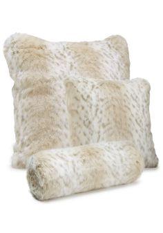 Lynx Faux Fur Pillows