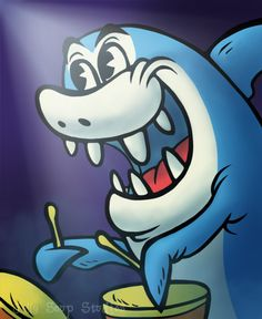 I know this has nothing to do with Easter but for this Saturday Morning Cartoon character its Jabberjaw. I love the new Mickey Mouse shorts so I tried to draw that style.