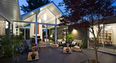 casas con patio central - Buscar con Google