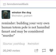 Hannibal humor | Winston the dog, Twitter, Hannibal fan art