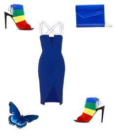 """Multi Colour (Blue) # 2"" by kimberlydalessandro ❤ liked on Polyvore featuring Aquazzura, Jimmy Choo and Topshop"