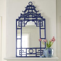 Pagoda Mirror home decor room furniture shui home design interior design rooms studio design decorating Asian Home Decor, Diy Home Decor, Asian Inspired Decor, Home Interior, Interior Design, Faux Bamboo, White Decor, Creative Home, My New Room