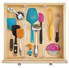 Set of 2 InterDesign Linus Acrylic Adjustable Drawer Divider Kitchen Organizer
