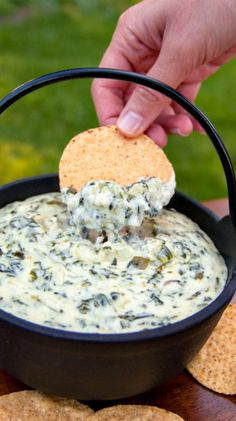 Spinach and Artichoke Dip Recipe | This is SO YUMMY! And the quanity is a lot more than I expected.