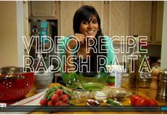 "She is soooo cute - watch this video :) Chitra Agrawal video debuts on Honest Cooking with a ""how to"" guide to making radish yoghurt raita."