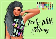 Weepingsimmer: LeahLilith`s Strong Clayified - 1000 Followers Gift  - Sims 4 Hairs - http://sims4hairs.com/weepingsimmer-leahliliths-strong-clayified-1000-followers-gift/