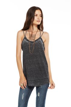 TRIBLEND TWISTED STRAP CAMI