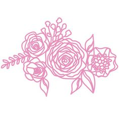 Silhouette Design Store - View Design #249907: flower group
