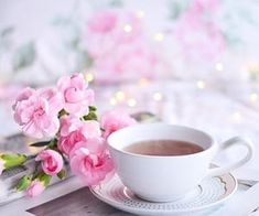 Good Morning Coffee, Coffee Time, Tea Time, Coffee Cups, Tea Cups, Gd Morning, Coffee Break, Karma, Pastel Roses