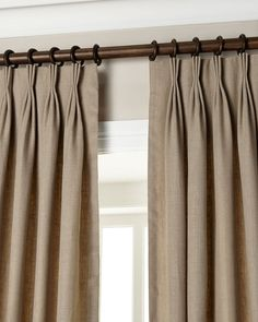 Also known as French Pleats is one of the most sumptuous of all and are a classically timeless curtain.  As with all hand sewn pleat curtains I would recommend that Triple Pinch Pleat curtains hang below the pole to allow enough space to fall as they should. They work equally well skimming above floor level or tumbling softly onto the floor.  For my own Triple Pinch Pleat curtains I always interline them as I feel it softens the pleat and makes them look fantastically sumptuous and it's a…