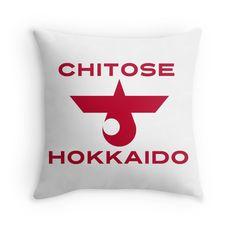 """Chitose, Hokkaido"" Throw Pillows by IMPACTEES   Redbubble"