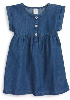Tucker + Tate Chambray Dress (Baby Girls) available at Kids Dress Wear, Girls Dress Up, Frocks For Girls, Little Girl Dresses, Toddler Dress, Baby Dress, Baby Girl Fashion, Kids Fashion, Sewing Kids Clothes