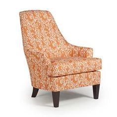 Nebraska Furniture Mart – Best Chairs Liliana Club Chair in Tangerine