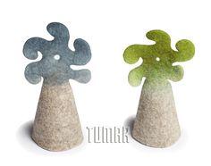 Decorative caps for eggs. Felt - 100% wool. Handmade, solid-rolled, ala-qiyiz technique. Christmas collection 2016. Tumar Art Group.