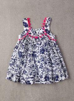 Nellystella Clementine Dress in Floral Motif - FINAL Girls Frock Design, Baby Dress Design, Kids Frocks Design, Baby Frocks Designs, Baby Girl Frocks, Frocks For Girls, Little Girl Dresses, Girls Dresses, Baby Girl Fashion