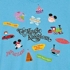 V-Neck The Magic Kingdom Tee for Women by SHAG... I would LOVE this shirt but it's only available in small...  :(((