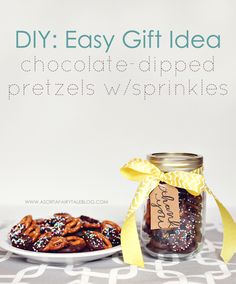 DIY: Easy gift idea - Chocolate-dipped Pretzels