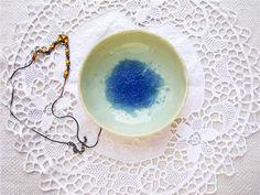 Keramik Schmuck Schale, Schale mit Glas Recycling, Juwelen Aufbewahrung, Snack…