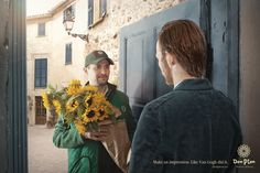 Don Pion flowers delivery: Impressionists, 2  Make an impression. Like Van Gogh did it.  Advertising Agency: Michurin creative agency, Ukraine  #advertising