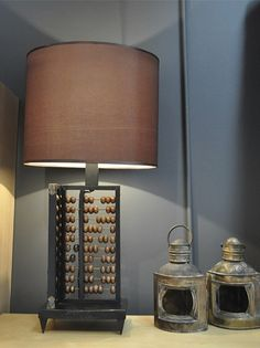 Abacus Lamp: Such a great repurpose!