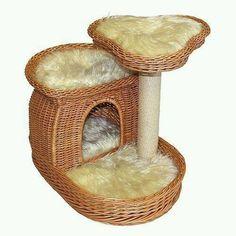 КошкоДом, Когтеточка, плетение из газетных трубочек
