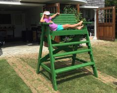 Umpire Chair Lifeguard Chair, Backyard Toys, Wood Patio Furniture, Life Guard, Beach Stuff, Beach Condo, Beach Chairs, Outdoor Projects, Custom Wood