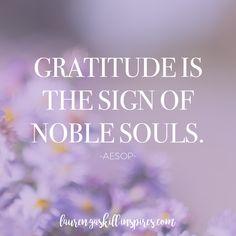 Aesop #gratitude