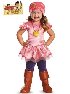 deluxe izzy costume jake and the neverland pirates party costumes - Partyland Halloween Costumes
