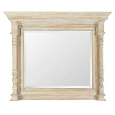 Made from 'weathered' acacia, this brown rustic country-style mirror features two turned columns which run along the sides of the piece. The wood has been given a smooth grained finish. Fixtures and fittings not included. Small Wall Mirrors, Statement Wall, Country Style, Decorative Accessories, Oversized Mirror, Acacia, Rustic, Wood, Nature