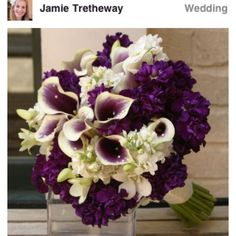 Purple flowers for a fall wedding for Nichole!
