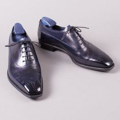George Cleverley Midnight Antique Blue Oxfords
